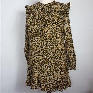 Who What Wear Watercolor Cheetah Dress